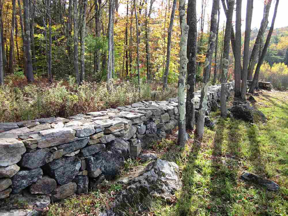 property line stone wall